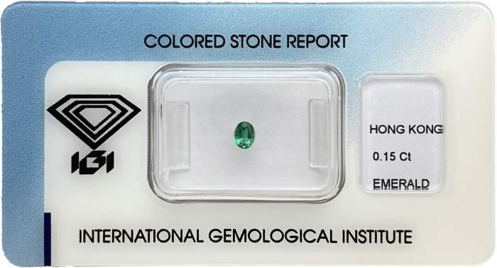Smeraldo certificato IGI 0.15ct - Gioielleria Casavola Noci - idee regalo