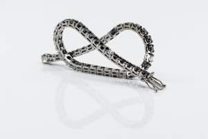 Crivelli bracciale tennis diamanti neri e bianchi - Gioielleria Casavola Noci - idee regalo uomo importante