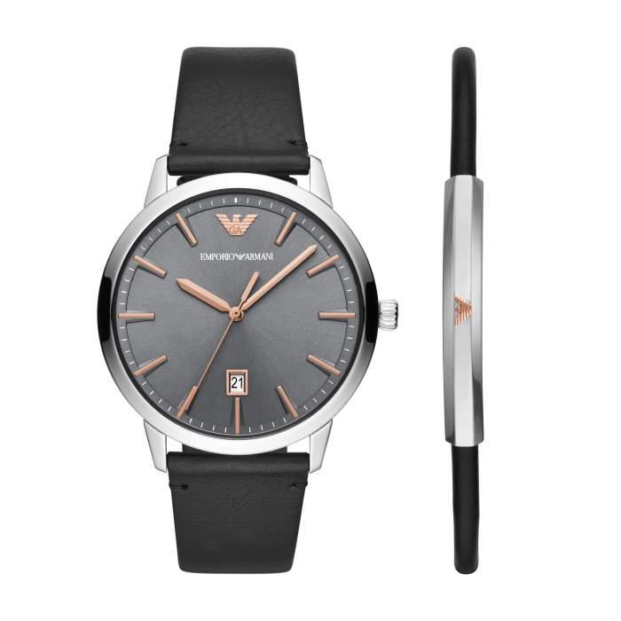 Emporio Armani set orologio e bracciale AR80026 - Gioielleria Casavola Noci - main - idee regalo uomo