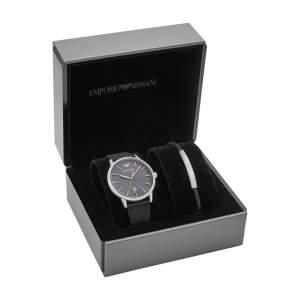 Emporio Armani set orologio e bracciale AR80026 - Gioielleria Casavola Noci - scatola - idee regalo uomo