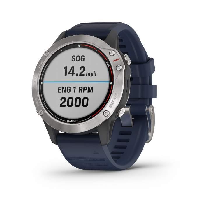 Garmin Quatix 6 - Smartwatch GPS per attività marittime - Gioielleria Casavola Noci - frontale sinistro
