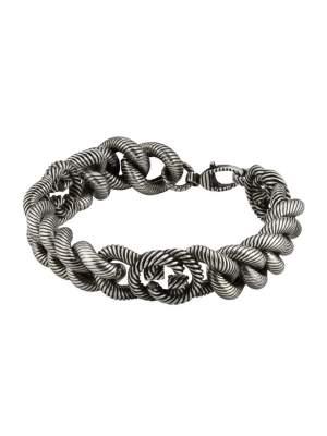 Gucci Jewelry Argento YBA599739001 - Gioielleria Casavola Noci - bracciale argento unisex doppia G idee regalo fashion