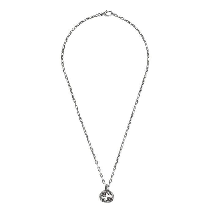Gucci Jewelry Argento YBB604155001 - Gioielleria Casavola Noci - collana interlocking doppia G - idee regalo