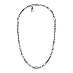 Gucci Jewelry Argento YBB616941001 - Gioielleria Casavola Noci - collana lunga doppia g - idee regalo