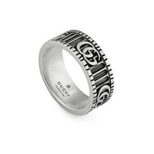 Gucci Jewelry Argento YBC551899001 - Gioielleria Casavola Noci - anello anticato doppia G Marmont - idee regalo