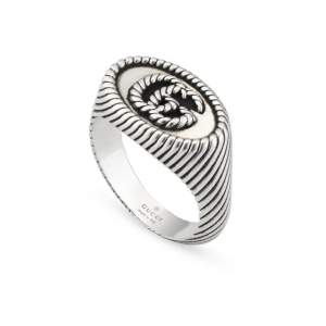 Gucci Jewelry Argento YBC631746001 - Gioielleria Casavola Noci - anello doppia G - idee regalo donne