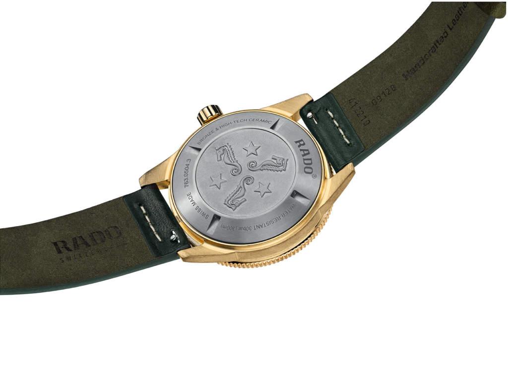 Rado Captain Cook R32504315 orologio subacqueo bronzo - Gioielleria Casavola Noci - fondello