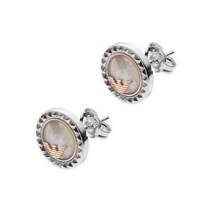 Emporio Armani orecchini EG3352040 - Gioielleria Casavola Noci - idee regalo donne - argento e madreperla