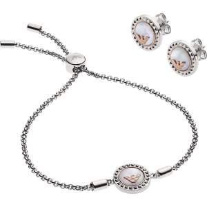 Emporio Armani set regalo donna EGS2652040 - Gioielleria Casavola Noci - bracciale ed orecchini in acciaio INOX