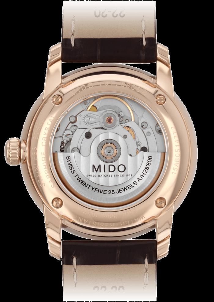 Mido Baroncelli M8600.3.13.4 - Gioielleria Casavola Noci - orologio automatico - back - idee regalo uomo