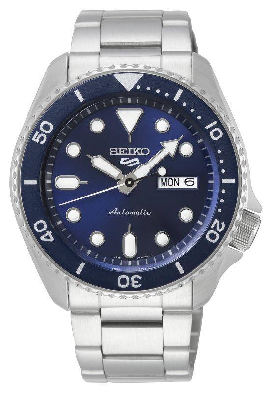 Seiko 5 Sports SRPD51K1 - Gioielleria Casavola Noci - orologio automatico uomo acciaio quadrante blu