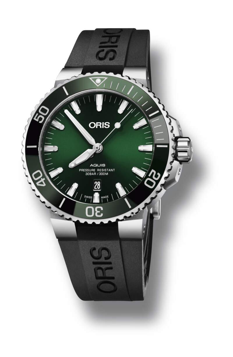 Oris Aquis Date 01 733 7730 4157-07 4 24 64EB - Gioielleria Casavola Noci - orologio subacqueo automatico quadrante verde - main