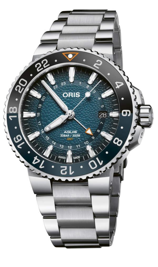 Oris Aquis Whale Shark 01 798 7754 4175-Set - Gioielleria Casavola Noci - orologio gmt acciaio limited edition - certificato autenticità incluso