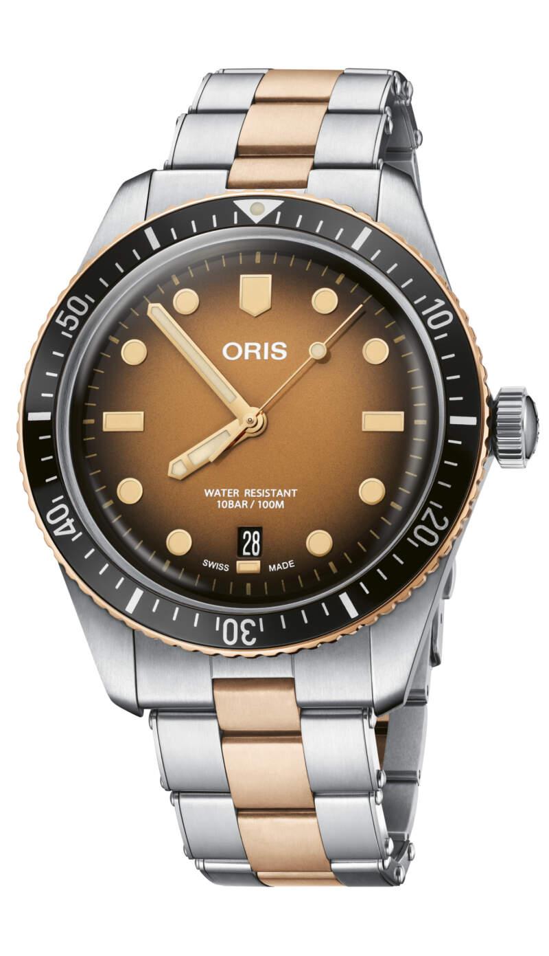 Oris Divers Sixty-Five 01 733 7707 4356-07 8 20 17 - Gioielleria Casavola Noci - orologio automatico quadrante occhio di tigre - main