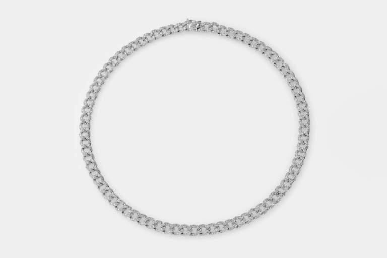 Crivelli girocollo groumette oro bianco - Gioielleria Casavola di Noci - idee regalo donne per occasione importante