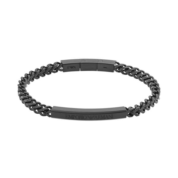 Emporio Armani bracciale EGS2415001 - Gioielleria Casavola di Noci - idee regalo uomo - gioielli sportivi - colore nero