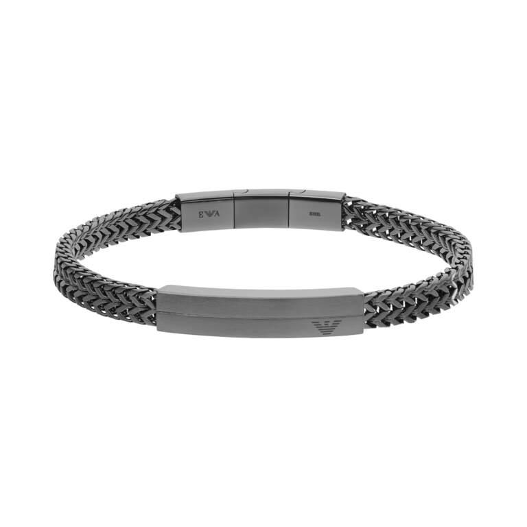 Emporio Armani bracciale EGS2684060 - Gioielleria Casavola di Noci - idee regalo uomo - gioiello sportivo - colore gunmetal
