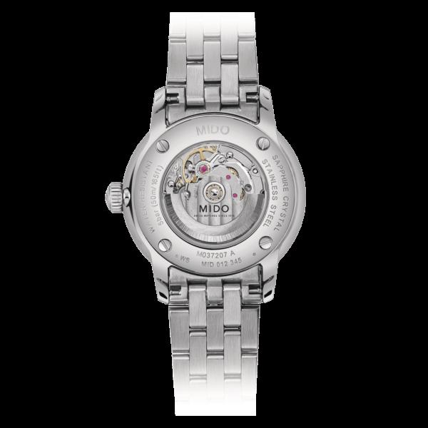 Mido Baroncelli Signature M037.207.11.041.01 - Gioielleria Casavola Noci - orologio spirale Nivachron - fondello movimento a vista - idee regalo donne