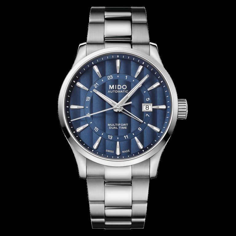 Mido Multifort Dual Time M038.429.11.041.00 - Gioielleria Casavola Noci - orologio automatico GMT acciaio - main - idee regalo uomo