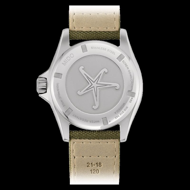 Mido Ocean Star Tribute M026.830.18.091.00 - Gioielleria Casavola Noci - orologio automatico uomo quadrante verde - fondello - idee regalo