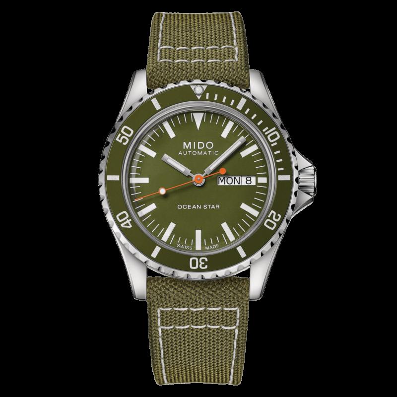 Mido Ocean Star Tribute M026.830.18.091.00 - Gioielleria Casavola Noci - orologio automatico uomo quadrante verde - main - idee regalo
