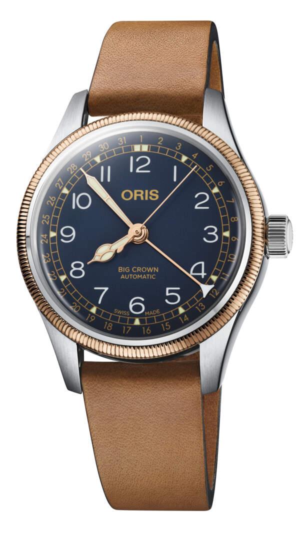 Oris Big Crown Pointer Date 01 754 7749 4365-07 5 17 66G - Gioielleria Casavola Noci - idee regalo uomo - orologio automatico aviator
