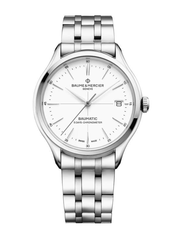 Baume et Mercier Clifton Baumatic M0A10505 - Gioielleria Casavola Noci - idee regalo uomo - orologio automatico esclusivo svizzero - main