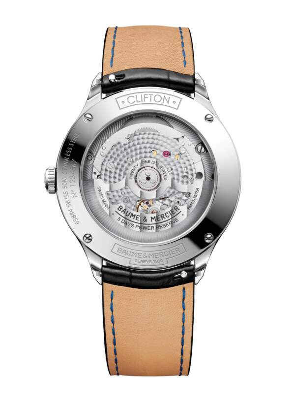 Baume et Mercier Clifton Baumatic M0A10518 - Gioielleria Casavola Noci - orologio automatico svizzero - fondello - idee regalo