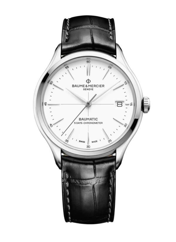 Baume et Mercier Clifton Baumatic M0A10518 - Gioielleria Casavola Noci - orologio automatico svizzero - main - idee regalo