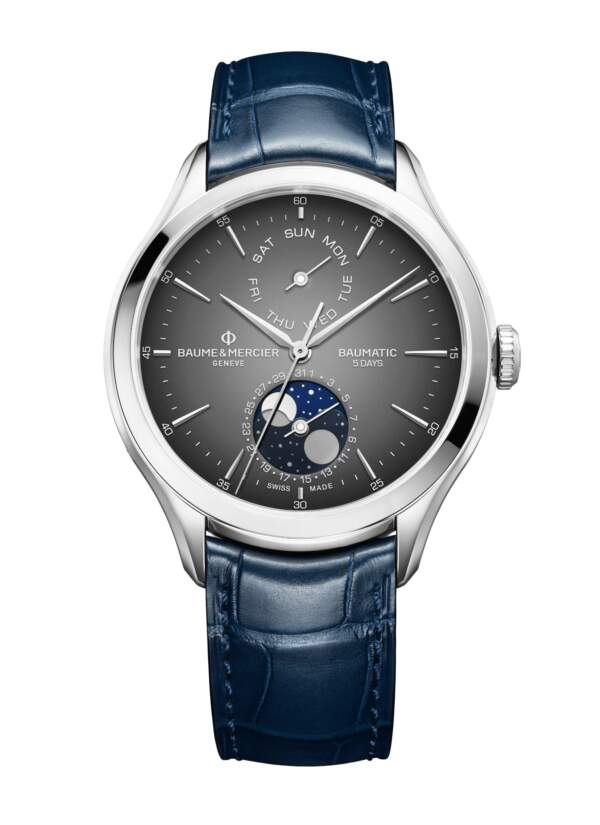 Baume et Mercier Clifton Baumatic M0A10548 - Gioielleria Casavola Noci - orologio automatico fasi lunari - main - idee regalo uomo