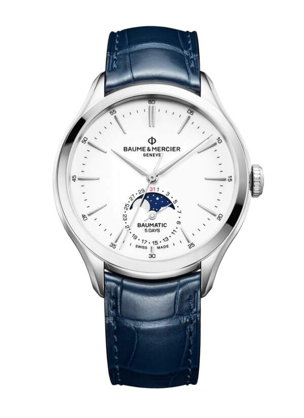 Baume et Mercier Clifton Baumatic M0A10549 - Gioielleria Casavola Noci - orologio automatico fasi lunari - main - idee regalo uomo