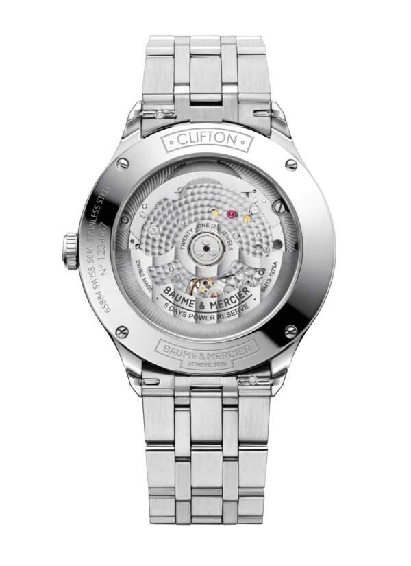 Baume et Mercier Clifton Baumatic M0A10551 - Gioielleria Casavola Noci - orologio automatico uomo - fondello trasparente - idee regalo