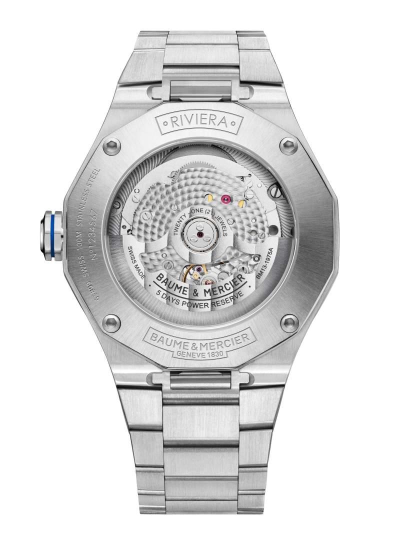 Baume et Mercier Riviera M0A10616 - Gioielleria Casavola Noci - orologio calibro automatico baumatic - fondello