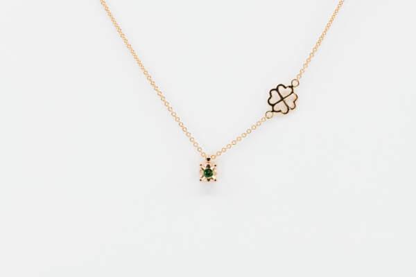 Collana punto luce smeraldo Starlight Rose - Gioielleria Casavola di Noci - idee regalo per donne - perfetto per ogni occasione
