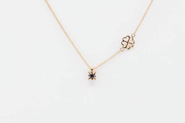 Collana punto luce zaffiro Starlight Rose - Gioielleria Casavola Noci - idee regalo donne per ogni occasione