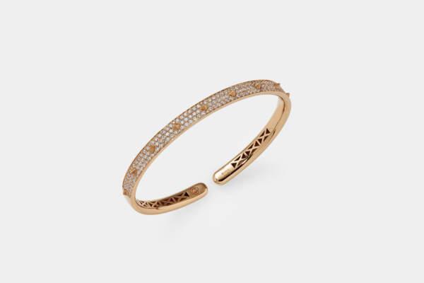 Crivelli bracciale borchie oro rosa - Gioielleria Casavola Noci - idee regalo donne per ogni occasione