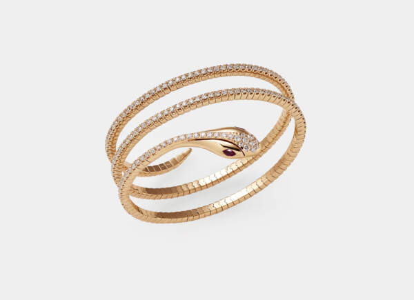 Crivelli bracciale serpente rubini - Gioielleria Casavola Noci - idee regalo per occasioni importanti