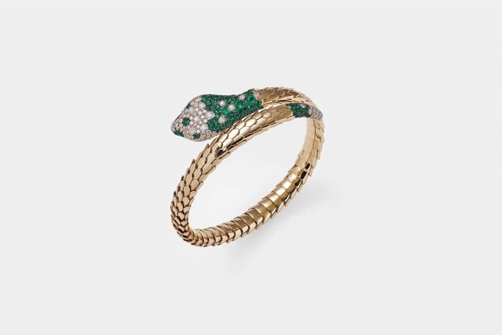 Crivelli bracciale serpente smeraldi - Gioielleria Casavola Noci - idee regalo speciali per occasioni importanti
