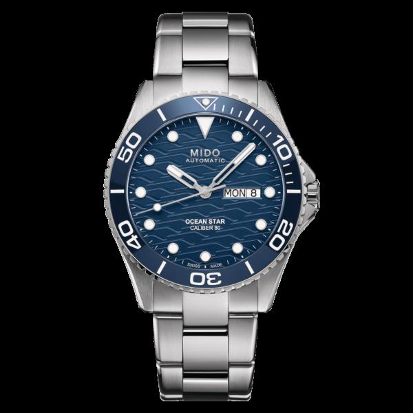 Mido Ocean Star 200C M042.430.11.041.00 - Gioielleria Casavola di Noci - orologio automatico acciaio - ghiera blu - main - idee regalo uomo