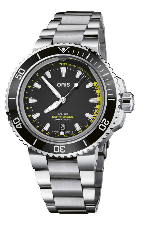 Oris Aquis Depth Gauge 01 733 7755 4154-Set MB - Gioielleria Casavola Noci - orologio per immersioni professionale - main