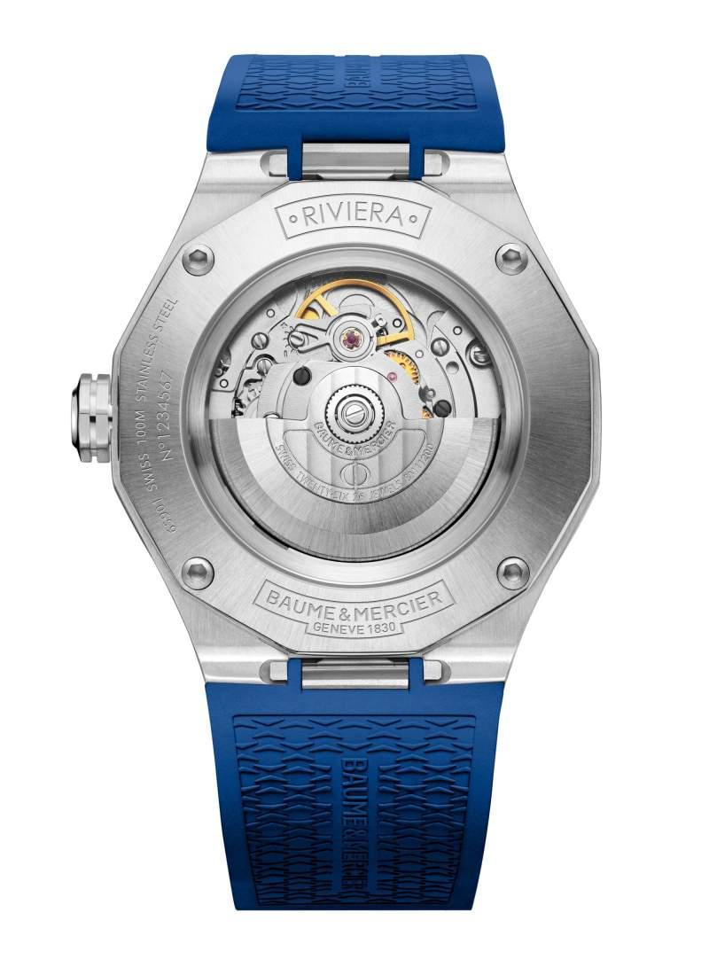 Baume et Mercier Riviera M0A10619 - Gioielleria Casavola Noci - orologio automatico uomo blu - fondello