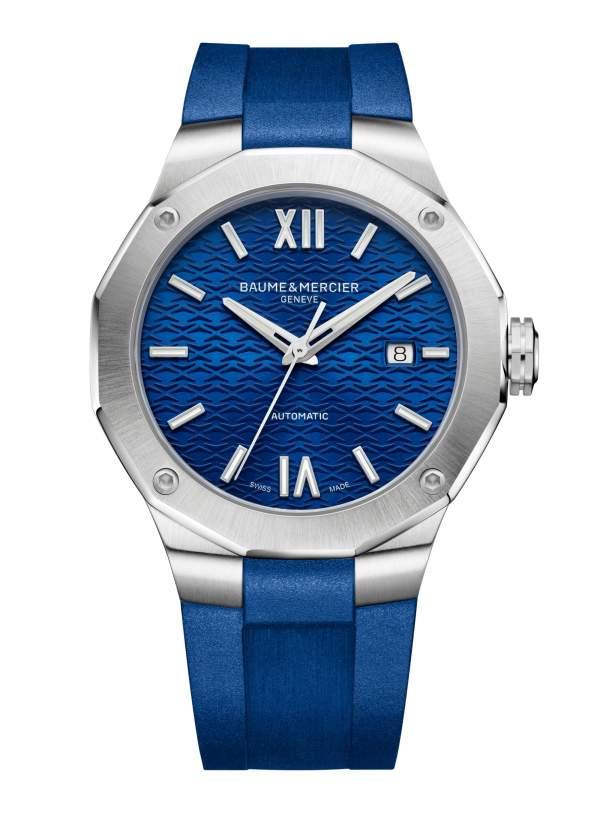 Baume et Mercier Riviera M0A10619 - Gioielleria Casavola Noci - orologio automatico uomo blu - main