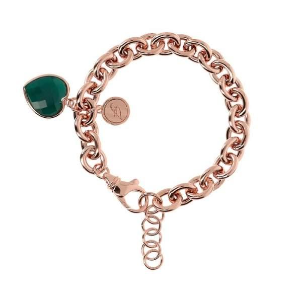 Bracciale cuore Bronzallure WSBZ00535GAG - Gioielleria Casavola Noci - main - idee regalo donne - colore verde