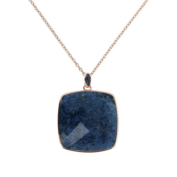 Collana quadrato Bronzallure WSBZ01792DUM - Gioielleria Casavola Noci - idee regalo donne - dettaglio pendente