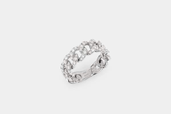 Crivelli anello groumette oro bianco - Gioielleria Casavola Noci - idee regalo donne - main