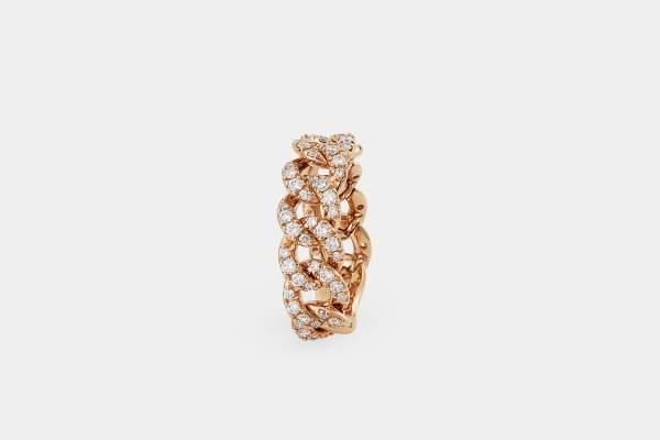 Crivelli anello groumette oro rosa - Gioielleria Casavola Noci - idee regalo donne - dettaglio