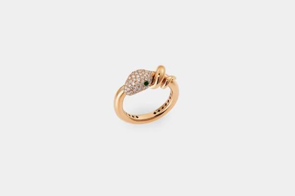 Crivelli anello serpente smeraldi - Gioielleria Casavola Noci - idee regalo donne - main