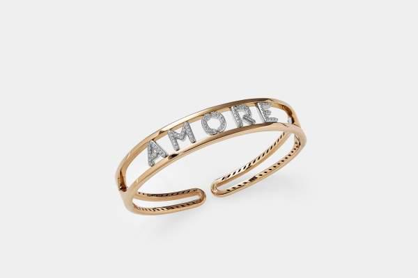 Crivelli bracciale rigido Amore - Gioielleria Casavola Noci - idee regalo donne per ogni occasione importante - gioiello con lettere