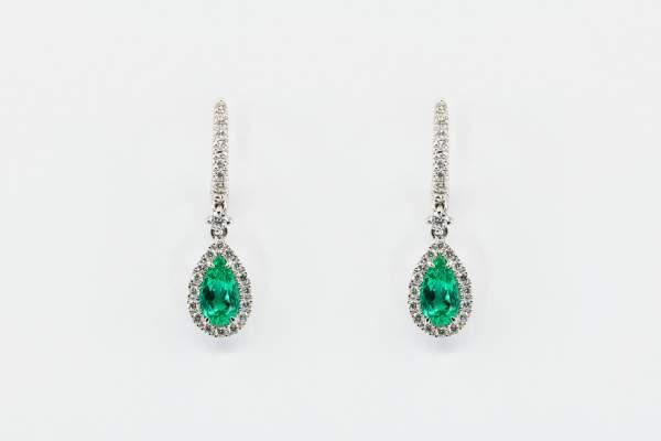 Crivelli orecchini goccia smeraldo - Gioielleria Casavola Noci - idee regalo donne