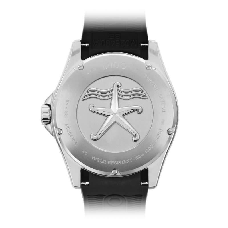 Mido Ocean Star 200 M026.430.17.051.00 - Gioielleria Casavola Noci - orologio subacqueo professionale - fondello con incisione